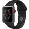 APPLE Watch 3 - 38 - Cellular - Alu noir / Bracelet Sport noir