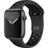 APPLE Watch 5 Nike - 44 - Alu gris / Bracelet Sport Anthracite/Noir