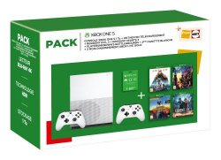 Pack Fnac Console Microsoft Xbox One S 1 To + 2ème manette + Anthem Legion of Dawn Edition + Resident Evil 2 + Kingdom Hearts 3 + PlayerUnknown's Battlegrounds + 3 mois de Live Gold
