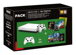 Pack Fnac Console Microsoft Xbox One X 1 To + 2ème manette + Forza Horizon 4 + Hellblade Senuas Sacrifice + Devil May Cry 5 + PlayerUnknown's Battlegrounds + Fallout 76 + Gears of War 4 + 3 mois de Live Gold