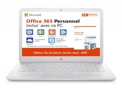 Pack PC Ultra-Portable HP Stream 14-cb041nf 14 + Office 365 Personnel 1 an dabonnement inclus