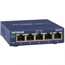 NETGEAR Switch 5 ports - GS105GE- Bleu
