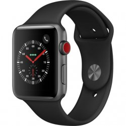 APPLE Watch 3 - 42 - Cellular - Alu noir / Bracelet Sport noir