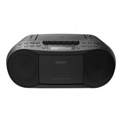 SONY - CFDS70B.CED - Boombox CD/Tuner / cassettes-Radio AM/FM-Sortie RMS stéréo 2 x 1,7 W-Lecture de CD-R/RW et CD mp3