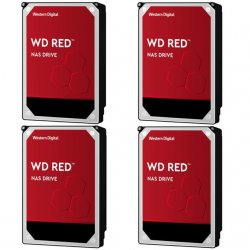 WESTERN DIGITAL Lot de 4 WD RED 6 To - 3.5'' - Rouge