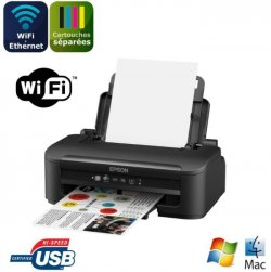 EPSON Imprimante WorkForce WF-2010W - jet d'encre 4 couleurs - Ethernet + Wi-Fi - Interface USB2.0