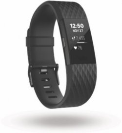 Bracelet connecté Fitbit Charge 2 Black Gunmetal L