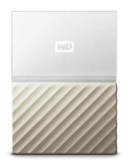 Disque dur externe WD My Passport Ultra 1 To Blanc et Or
