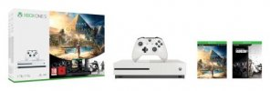 Pack Console Microsoft Xbox One S 1 To + Assassins Creed Origins + Rainbow Six : Siege